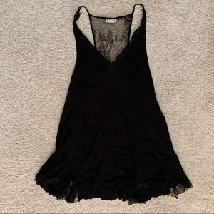 Free People Black Slip Dress